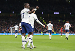 Tottenham's Moussa Sissoko celebrates after scoring to make it 3-0 during the Premier League match at the Tottenham Hotspur Stadium, London. Picture date: 30th November 2019. Picture credit should read: Paul Terry/Sportimage