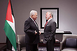 Palestinian President Mahmoud Abbas, meets with Jordanian King Abdullah II in New York, United States on September 22, 2019. Photo by Thaer Ganaim