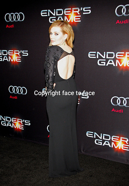 Abigail Breslin at the Los Angeles Premiere of &quot;Ender's Game&quot; held at the TCL Chinese Theater in Hollywood on October 28, 2013 in Los Angeles, California.<br />
