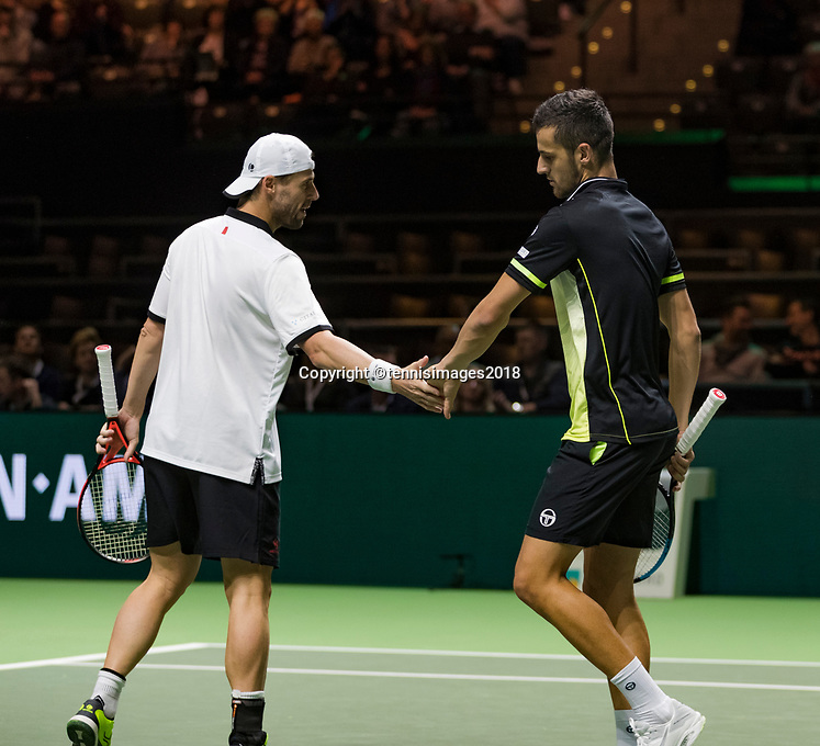 ABNAMRO World Tennis Tournament, 16 Februari, 2018, Rotterdam, The Netherlands, Ahoy, Tennis, Mate Pavic (CRO) / Oliver Marach (AUT)<br /> <br /> Photo: www.tennisimages.com