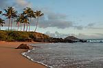 Sunset at secret beach wailea Maui.
