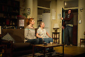 Bath, UK. 11.04.2013. 4,000 MILES by Amy Herzog, opens at the Ustinov Studio, Theatre Royal Bath, as part of the 2013 American Season. the play is directed by James Dacre, recently appointed Artistic Director of Royal and Derngate, Northampton. Lighting design by Richard Howell and set and costume design by Simon Kenny. The production runs from 11th April to 11th May. Picture shows: Jenny Hulse (Bec), Sara Kestelman (Vera) and Daniel Boyd (Leo).  Photograph © Jane Hobson.