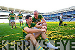 Aidan O'Mahony and Kieran Donaghy. Kerry players celebrate their victory over Donegal in the All Ireland Senior Football Final in Croke Park Dublin on Sunday 21st September 2014.