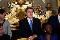 Enrico Giovannini, ministro del Lavoro  durante la cerimonia del giuramento del nuovo Governo Letta nel Salone delle Feste del Quirinale.