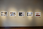 Images by Amanda Rivkin of postwar Bosnia's reconstruction on exhibit at the Aa Haa West Gallery during the Mountainfilm Festival in Telluride, Colorado on May 22, 2015.