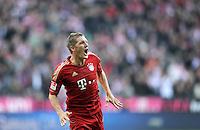 FUSSBALL   1. BUNDESLIGA  SAISON 2011/2012   11. Spieltag FC Bayern Muenchen - FC Nuernberg        29.10.2011 JUBEL nach dem Tor, Bastian Schweinsteiger (FC Bayern Muenchen)