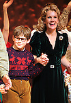 Johnny Rabe & Erin Dilly during the Broadway Opening Night Performance Curtain Call for 'A Christmas Story - The Musical'  at the Lunt Fontanne Theatre in New York City on 11/19/2012.