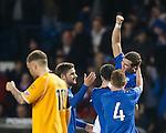 David Templeton celebrates his goal for Rangers against Annan