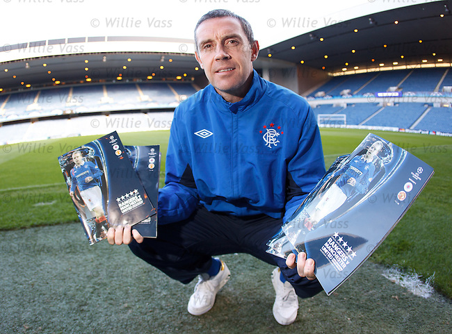 David Weir with the Rangers programme for tomorrow night