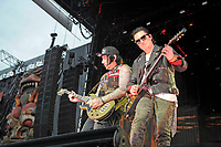 DERBY, ENGLAND - JUNE 8: Zacky Vengeance and Synyster Gates of 'Avenged Sevenfold' performing at Download Festival, Donington Park on June , 2018 in Derby<br /> CAP/MAR<br /> &copy;MAR/Capital Pictures