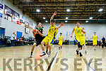 Steven Bowler (12) Mercy Mounthawk in action against Luke Chester (9) CBS The Green U19 A Boys Subway Schools Cup semi final at Tralee Sports Complex on Thursday.