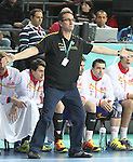 25.01.2013 Barcelona, Spain. IHF men's world championship, Semi-final. Picture show Valero Rivera  in action during game between Spain vs Slovenia at Palau St. Jordi