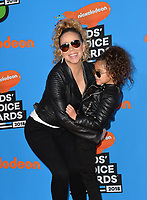 Mariah Carey &amp; Monroe Cannon at Nickelodeon's 2018 Kids' Choice Awards at The Forum, Los Angeles, USA 24 March 2018<br /> Picture: Paul Smith/Featureflash/SilverHub 0208 004 5359 sales@silverhubmedia.com