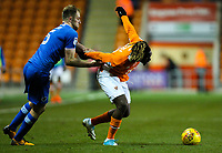 Blackpool's Dolly Menga is fouled by Portsmouth's Matthew Clarke<br /> <br /> Photographer Alex Dodd/CameraSport<br /> <br /> The EFL Sky Bet League One - Blackpool v Portsmouth - Saturday 11th November 2017 - Bloomfield Road - Blackpool<br /> <br /> World Copyright &copy; 2017 CameraSport. All rights reserved. 43 Linden Ave. Countesthorpe. Leicester. England. LE8 5PG - Tel: +44 (0) 116 277 4147 - admin@camerasport.com - www.camerasport.com