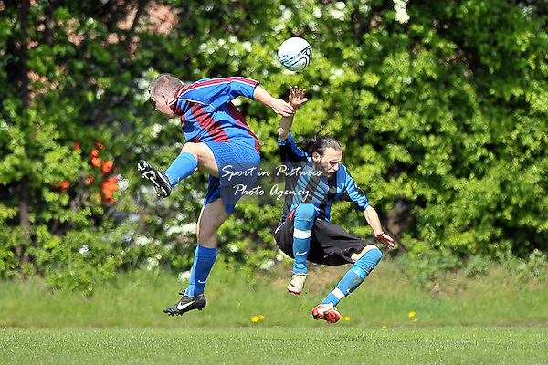 Enfield Vs Tollington Park FC. League Shield Final. North East London and Essex Churches Football League. Frederick Knight Sports Centre. London. 21/04/2012. MANDATORY Credit Garry Bowden/Sportinpictures - NO UNAUTHORISED USE - 07837 394578