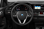 Car pictures of steering wheel view of a 2020 BMW 1-Series Sport 5 Door Hatchback Steering Wheel