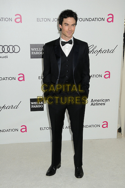 Ian Somerhalder.20th Annual Elton John Academy Awards Viewing Party held at West Hollywood Park, West Hollywood, California, USA..February 26th, 2012.oscars full length tuxedo black white bow tie  .CAP/ADM/BP.©Byron Purvis/AdMedia/Capital Pictures.
