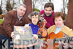 Launching the Killarney rotary club Young Musician of the Year competition in the Malton Hotel on Wednesday was l-r: Barry Murphy, Grace O'Neill, Sean Tracey and Katie O'Connell President the Finals Evening Concert will be held in the Malton on Saturday the 9th March