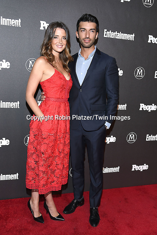 Emily and Justin Baldoni attends the Entertainment Weekly &amp; PEOPLE Magazine New York Upfronts Celebration on May 16, 2016 at Cedar Lake in New York, New York, USA.<br /> <br /> photo by Robin Platzer/Twin Images<br />  <br /> phone number 212-935-0770
