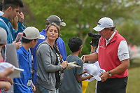 Phil Mickelson (USA) signs autographs following his match  during day 3 of the World Golf Championships, Dell Match Play, Austin Country Club, Austin, Texas. 3/23/2018.<br /> Picture: Golffile | Ken Murray<br /> <br /> <br /> All photo usage must carry mandatory copyright credit (&copy; Golffile | Ken Murray)