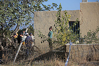 FAO JANET TOMLINSON, DAILY MAIL PICTURE DESK<br /> Pictured: The house where Ben Needham disappeared from, part of which (FAR LEFT) will be demolished for the search in Kos, Greece. Monday 03 October 2016<br /> Re: Police teams led by South Yorkshire Police, searching for missing toddler Ben Needham on the Greek island of Kos have moved to a new area in the field they are searching.<br /> Ben, from Sheffield, was 21 months old when he disappeared on 24 July 1991 during a family holiday.<br /> Digging has begun at a new site after a fresh line of inquiry suggested he could have been crushed by a digger.