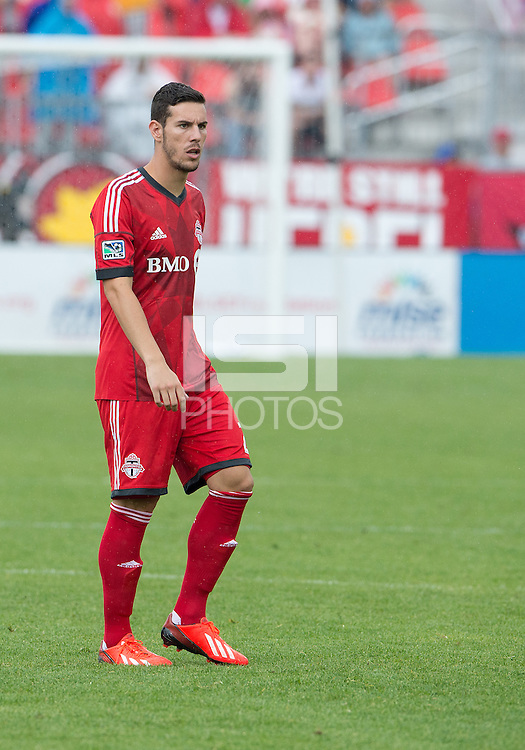 July 20, 2013: Toronto FC midfielder Alvaro Rey #23 in action during a game between Toronto FC and the Columbus Crew at BMO Field in Toronto, Ontario Canada.<br /> Toronto FC won 2-1.