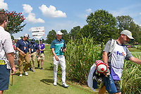 Matt Fitzpatrick (ENG) heads to the tee on 13 during round 3 of the WGC FedEx St. Jude Invitational, TPC Southwind, Memphis, Tennessee, USA. 7/27/2019.<br /> Picture Ken Murray / Golffile.ie<br /> <br /> All photo usage must carry mandatory copyright credit (© Golffile | Ken Murray)