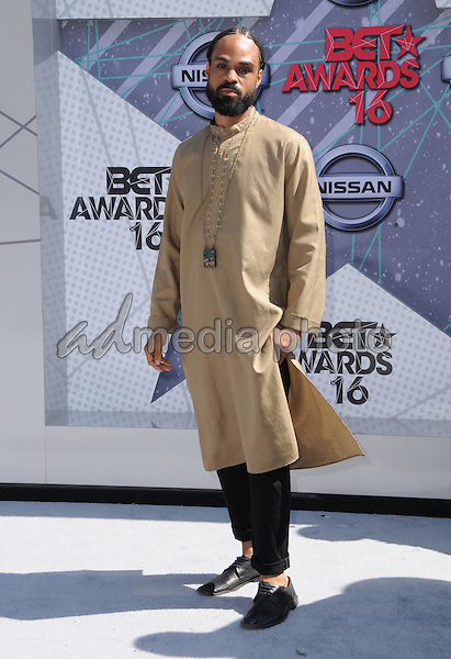 26 June 2016 - Los Angeles. Bilal. Arrivals for the 2016 BET Awards held at the Microsoft Theater. Photo Credit: Birdie Thompson/AdMedia