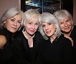 Louise Pitre, Nancy Opel, Jamie deRoy and Angelina Fiordellisi during the Silver Belles of the New York stage photo shoot at the deRoy Residence on March 11, 2019 in New York City.