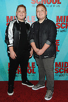 NEW YORK, NY - OCTOBER 01:  Benjamin and Matthew Royer attends the New York Screening of Middle School: The Worst Years of My Life at Regal E-Walk on October 1, 2016 in New York City. Photo Credit: John Palmer/MediaPunch