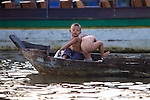 Boys On Dugout Canoe