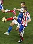 Atletico de Madrid's Gabi Fernandez (r) and UD Almeria's Tomer Hemed during La Liga match.February 21,2015. (ALTERPHOTOS/Acero)