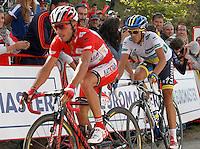 Joaquin Purito Rodriguez and Alberto Contador during the stage of La Vuelta 2012 between La Robla and Lagos de Covadonga.September 2,2012. (ALTERPHOTOS/Acero) /NortePhoto.com<br /> <br /> **CREDITO*OBLIGATORIO** <br /> *No*Venta*A*Terceros*<br /> *No*Sale*So*third*<br /> *** No*Se*Permite*Hacer*Archivo**<br /> *No*Sale*So*third*
