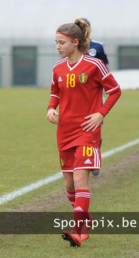 W U17 Belgi&euml; - Schotland :<br /> <br /> Orelie Vangeel<br /> <br /> Copyright Dirk Vuylsteke/Loft6.be