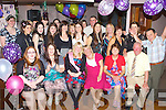 18TH BIRTHDAY: Karen McCarthy, Droumavalla, Tralee (seated centre) enjoying a great time celebrating her 18th birthday with family and friends at the Abbey Inn, Tralee on Friday.
