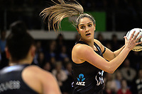 Te Paea Selby-Rickit in action during the Quad Series netball match between the New Zealand Silver Ferns and England Roses at Trusts Stadium, Auckland, New Zealand on Wednesday, 30 August 2017. Photo: Dave Lintott / lintottphoto.co.nz