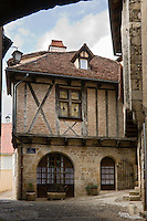 Europe/France/Midi-Pyrénées/46/Lot/Figeac: Maison médiévale à l'angle de la rue Malleville et de la rue de la Ste Famille
