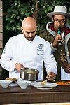 Chef Sam Kass and Johann Wald during the presentation of Exploratorium of San Miguel Selecta at Museo del Ferrocarril in Madrid. March 22, 2017. (ALTERPHOTOS/Borja B.Hojas)