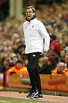 Manager of Liverpool, Jurgen Klopp during the UEFA Europa League match at Anfield. Photo credit should read: Philip Oldham/Sportimage
