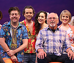 Eric Peterson, Paul Alexander Nolan, Alison Luff, Jimmy Buffett and Lisa Howard during the Press Sneak Peak for the Jimmy Buffett  Broadway Musical 'Escape to Margaritaville' on February 15, 2018 at the Marquis Theatre in New York City.