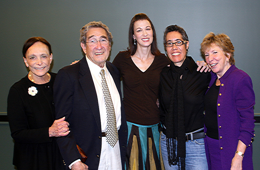 Norman Stearns (died 2010), was married to Irma Mann Stearns. Irma graduated from Emerson in 1967. With Jacqueline Liebergott and faculty members.