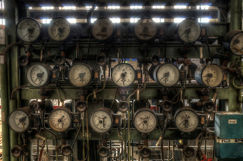 A disused power station in East Germany