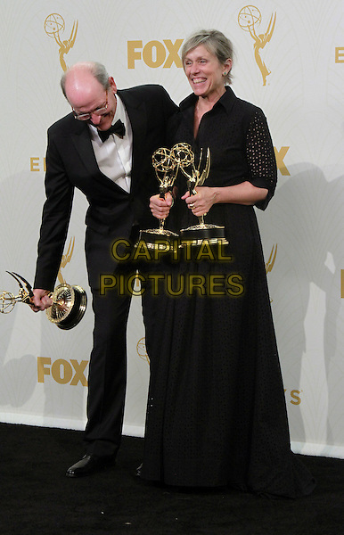 20 September 2015 - Los Angeles, California - Richard Jenkins, Frances McDormand. 67th Annual Primetime Emmy Awards Press Room held at Microsoft Theater. <br /> CAP/ADM/THB<br /> &copy;THB/ADM/Capital Pictures