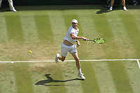 LONDON, ENGLAND - JULY 06: John Isner attend day five of the Wimbledon Tennis Championships at the The All England Lawn Tennis Club on July 6, 2018 in London, England<br /> CAP/MPI122<br /> &copy;MPI122/Capital Pictures