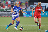 Portland, OR - Saturday May 27, 2017: Rosie White, Allie Long during a regular season National Women's Soccer League (NWSL) match between the Portland Thorns FC and the Boston Breakers at Providence Park.