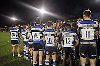 Bath players line up after the match. Aviva Premiership match, between Bath Rugby and Harlequins on December 21, 2013 at the Recreation Ground in Bath, England. Photo by: Patrick Khachfe / Onside Images