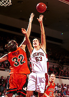 STANFORD, CA - JANUARY 13: Carolyn Moos of the Stanford Cardinal during Stanford's 78-58 win over the Oregon State Beavers on January 13, 2000 at Maples Pavilion in Stanford, California.