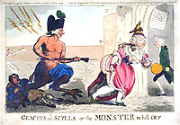 BNPS.co.uk (01202 558833)<br /> Pic: JanBondeson/BNPS<br /> <br /> A satirical print showing the courtier George Hanger as the Monster pursuing a sturdy court lady.<br /> <br /> A historian has shed new light on a little-known predator who terrorised London's streets a century before Jack the Ripper.<br /> <br /> The despicable culprit - dubbed The Monster - targeted well dressed young women by stabbing them in the thigh or buttocks.<br /> <br /> His reign of terror lasted for the first half of 1790, with him clocking up six victims on a single day. Other women were kicked from behind with spikes fastened to his knees, while some were stabbed in the nose by a spike hidden in a bouquet they were invited to smell.<br /> <br /> By the time The Monster was finally apprehended, his tally of traumatised victims was over 50. He was unmasked as disgraced Welsh ballet dancer Rhynwick Williams, who was kicked out of the theatre after committing theft and descended into the capital's seedy underworld.<br /> <br /> Historian Dr Jan Bondeson has written about him in his book 'The London Monster: Terror on the Streets', and also contributed to an upcoming film on the sinister episode.