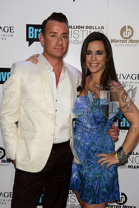 MIAMI BEACH, FL - JUNE 18: Christopher Leavitt and Samantha DeBianchi attends Million Dollar Listing Miami Season One VIP Premiere Party at Nikki Beach on June 18, 2014 in Miami Beach, Florida. (Photo by Johnny Louis/jlnphotography.com)