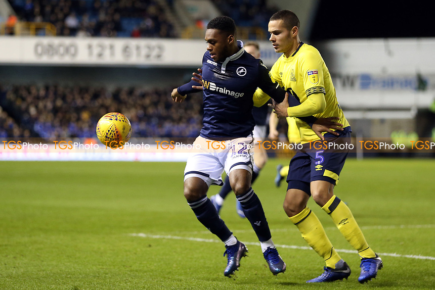 Mahlon Romeo of Millwall and Jack Rodwell of Blackburn Rovers during Millwall vs Blackburn Rovers, Sky Bet EFL Championship Football at The Den on 12th January 2019